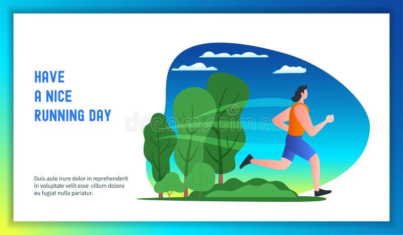 Έχετε μια συμπαθητική τρέχοντας ημέρα διανυσματική απεικόνιση