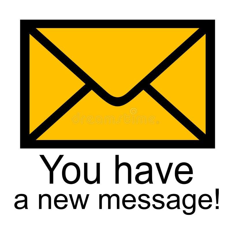 έχετε το μήνυμα νέο εσείς διανυσματική απεικόνιση