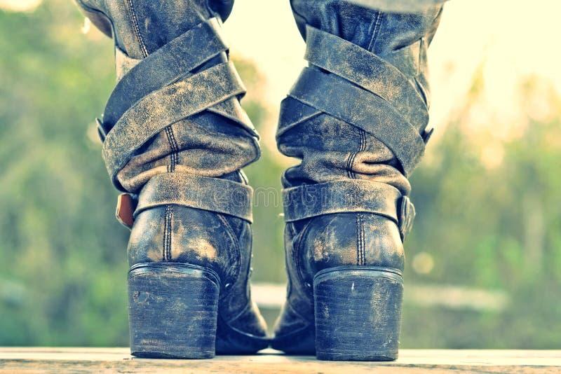 Οι μπότες στοκ φωτογραφία
