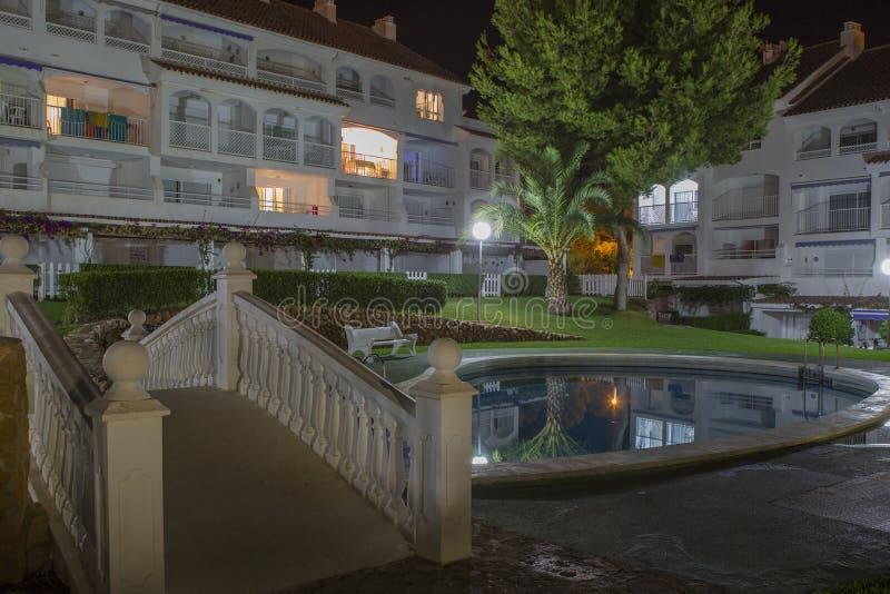 Έδαφος ξενοδοχείων (έδαφος Λα Caletta ξενοδοχείων, Alcossebre, Ισπανία) στοκ εικόνες
