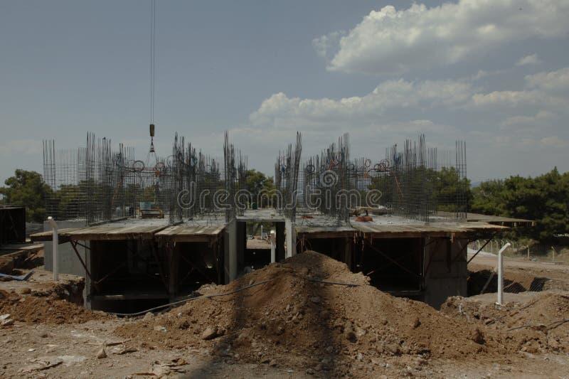 Έδαφος Groundbreaking σπιτικό στοκ φωτογραφία με δικαίωμα ελεύθερης χρήσης
