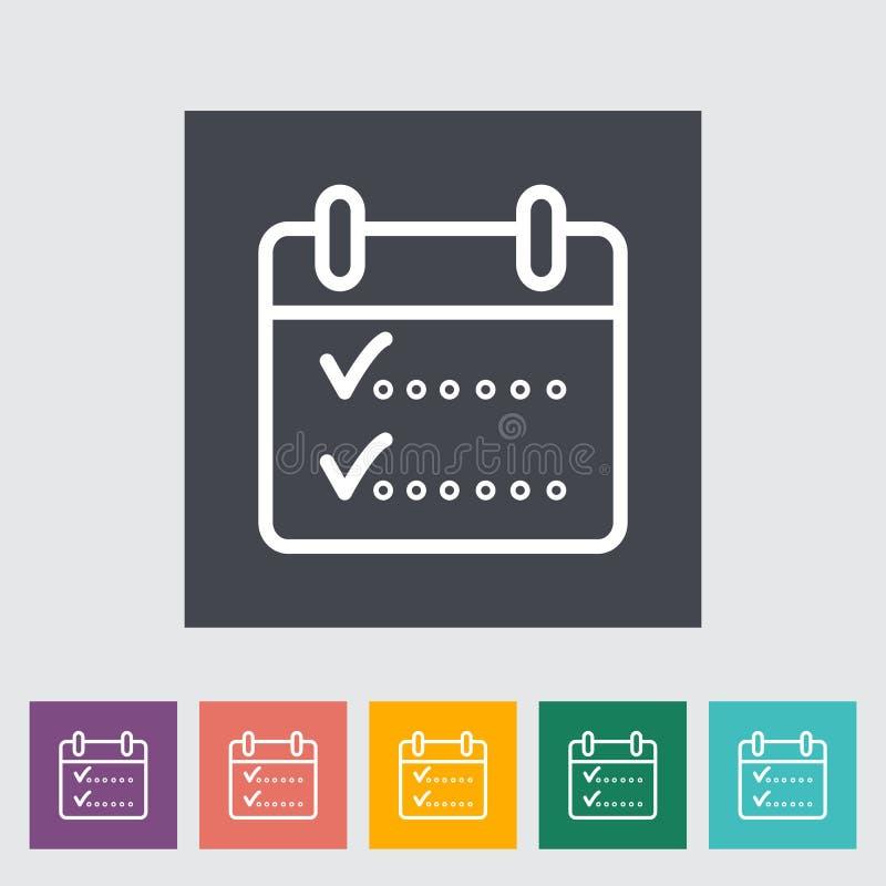 Έλεγχος ημερολογιακών μορίων ελεύθερη απεικόνιση δικαιώματος