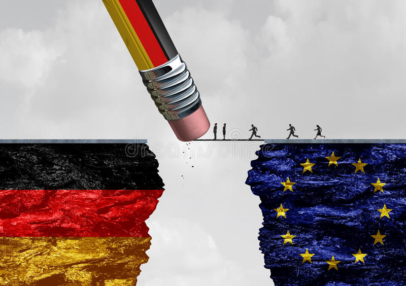 Έλεγχος μετανάστευσης συνόρων της Γερμανίας διανυσματική απεικόνιση