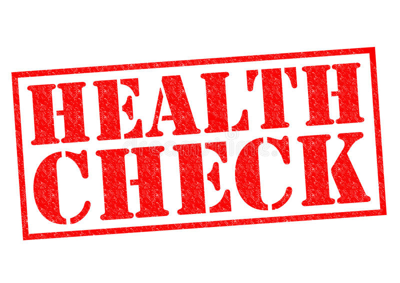 Έλεγχος υγείας διανυσματική απεικόνιση