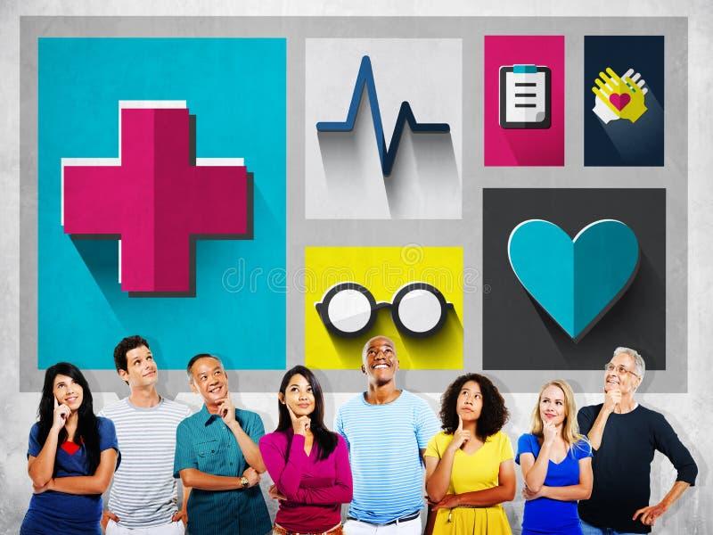 Έλεγχος υγειονομικής περίθαλψης επάνω στην έννοια ιατρικής εξέτασης στοκ εικόνες