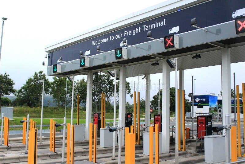 Έλεγχος υπηρεσιών της Eurotunnel στους θαλάμους στοκ εικόνες με δικαίωμα ελεύθερης χρήσης
