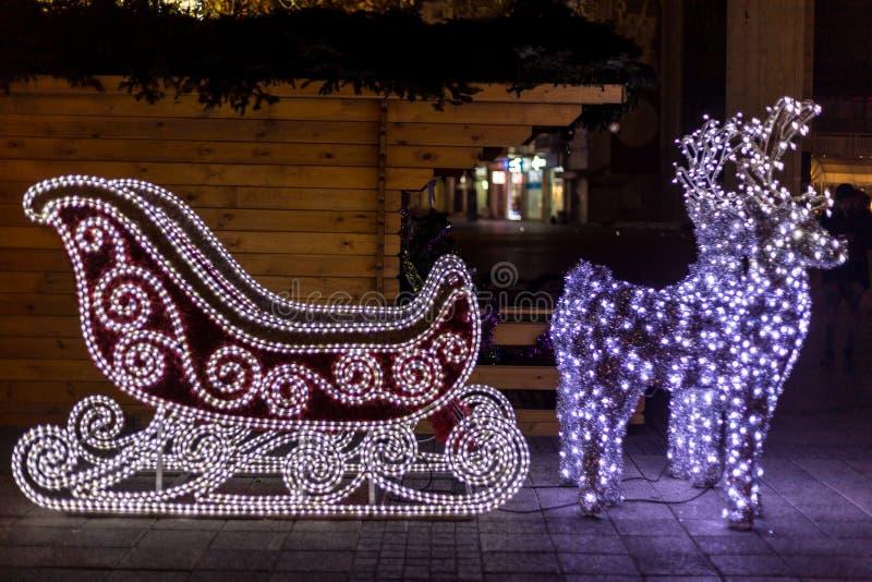 Έλκηθρο Χριστουγέννων στοκ φωτογραφίες με δικαίωμα ελεύθερης χρήσης