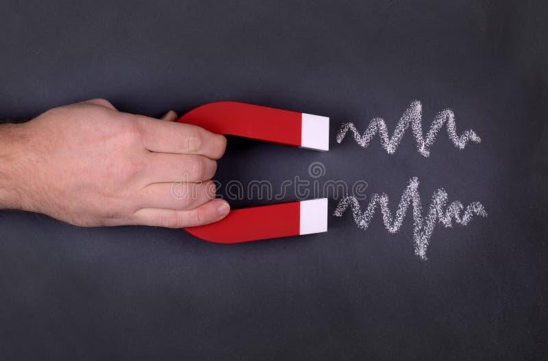 Έλξη μαγνητών στοκ φωτογραφία με δικαίωμα ελεύθερης χρήσης
