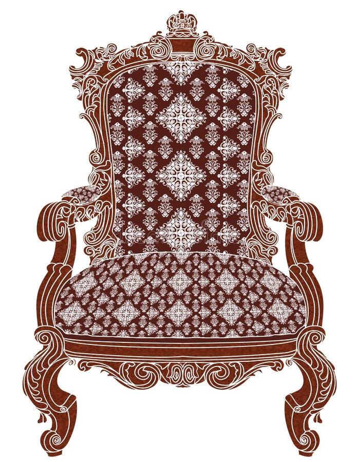 Έδρα - βασιλική παλαιά παλαιά πολυθρόνα στοκ εικόνες με δικαίωμα ελεύθερης χρήσης