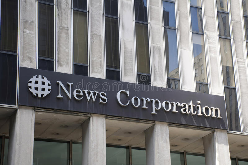 Έδρα της News Corp. στοκ φωτογραφία