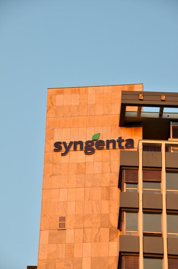 Έδρα Syngenta στη Βασιλεία, Ελβετία στοκ εικόνες με δικαίωμα ελεύθερης χρήσης