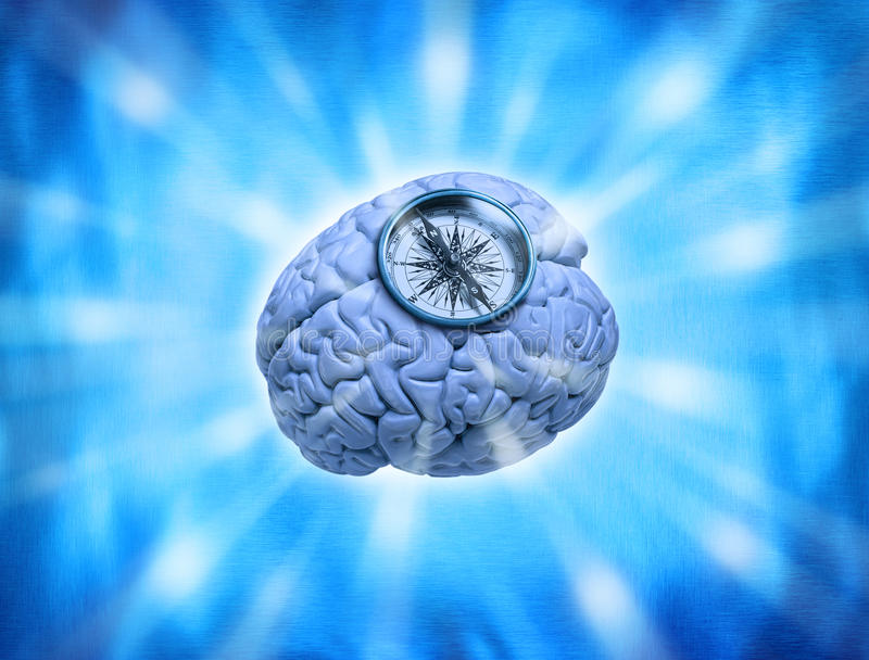 ήθος πυξίδων εγκεφάλου στοκ φωτογραφία