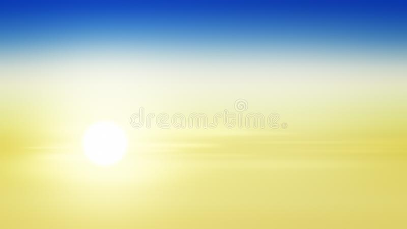Ήλιος ανατολής υποβάθρου κλίσης ηλιοβασιλέματος, ταπετσαρία διανυσματική απεικόνιση