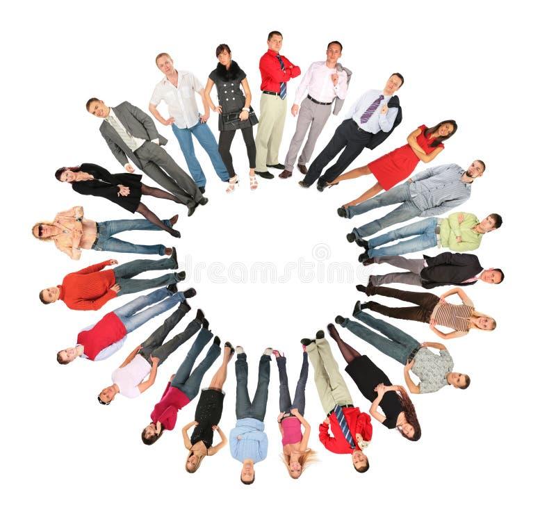 ήλιος ανθρώπων μορφής πλήθους κολάζ κύκλων στοκ φωτογραφίες