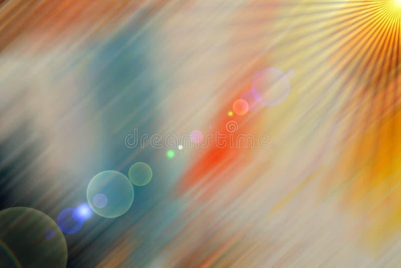 Ήλιος, διαστημικά φω'τα, θολωμένα αφηρημένα φω'τα, γεωμετρία διανυσματική απεικόνιση