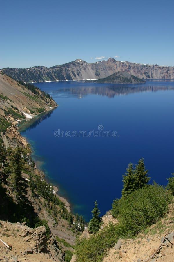 ήλιος εγκοπών λιμνών κρατήρων στοκ εικόνες με δικαίωμα ελεύθερης χρήσης