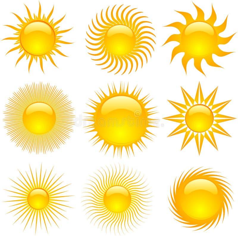 ήλιος εικονιδίων ελεύθερη απεικόνιση δικαιώματος