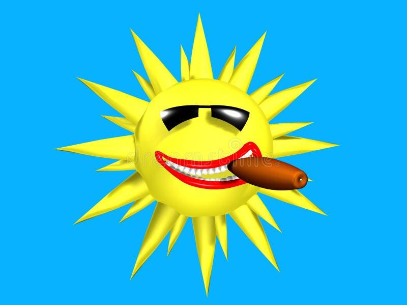 ήλιος καπνού 007 διανυσματική απεικόνιση