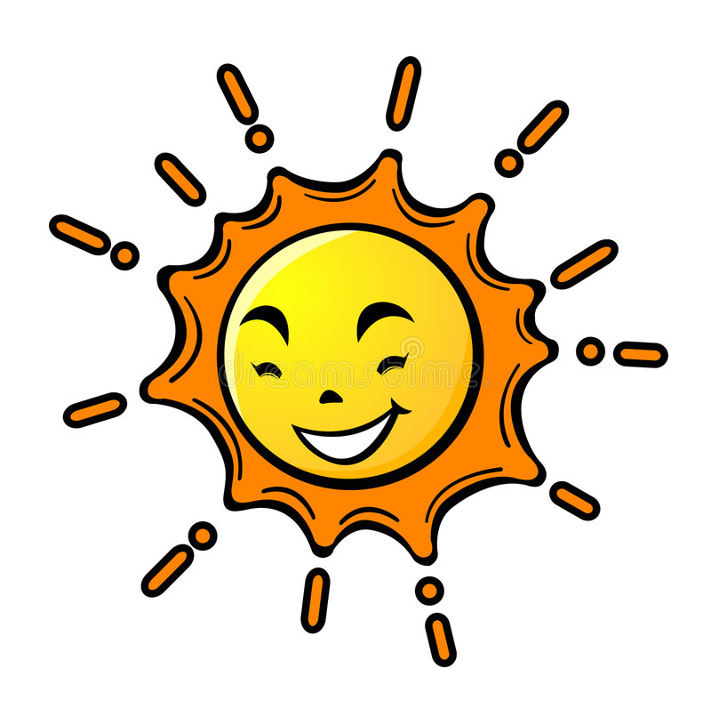 ήλιος κινούμενων σχεδίων απεικόνιση αποθεμάτων