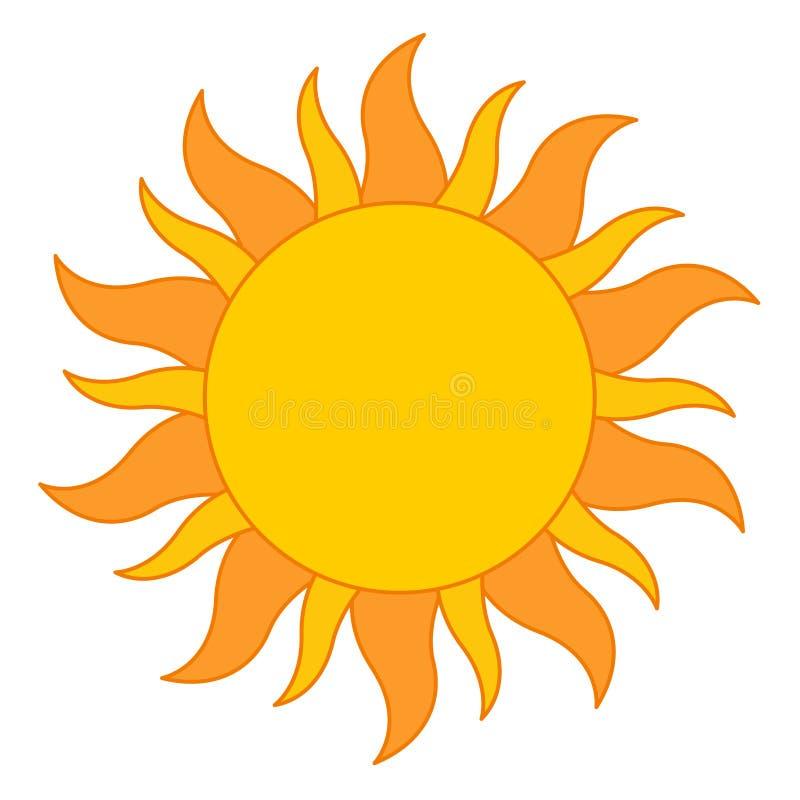 ήλιος λογότυπων διανυσματική απεικόνιση