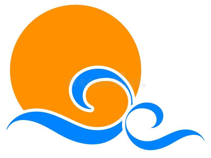 ήλιος λογότυπων ελεύθερη απεικόνιση δικαιώματος