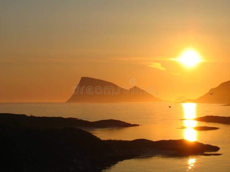 Ήλιος μεσάνυχτων στοκ φωτογραφία