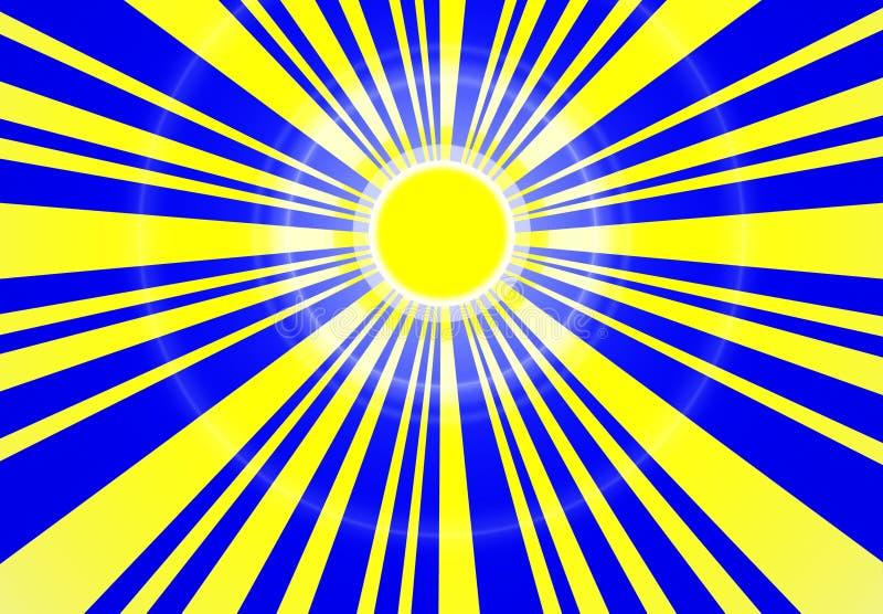 ήλιος μπλε ουρανού ελεύθερη απεικόνιση δικαιώματος