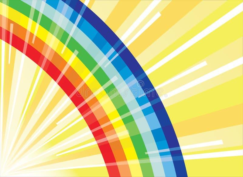 ήλιος ουράνιων τόξων ακτίν&omeg απεικόνιση αποθεμάτων