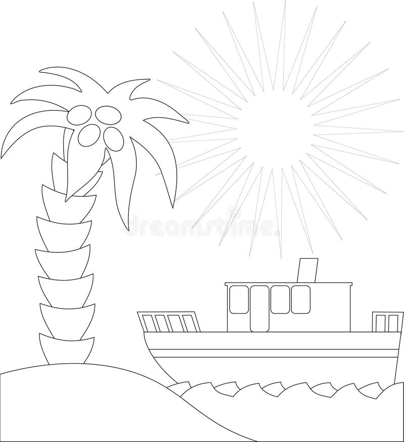 ήλιος παραλιών διανυσματική απεικόνιση