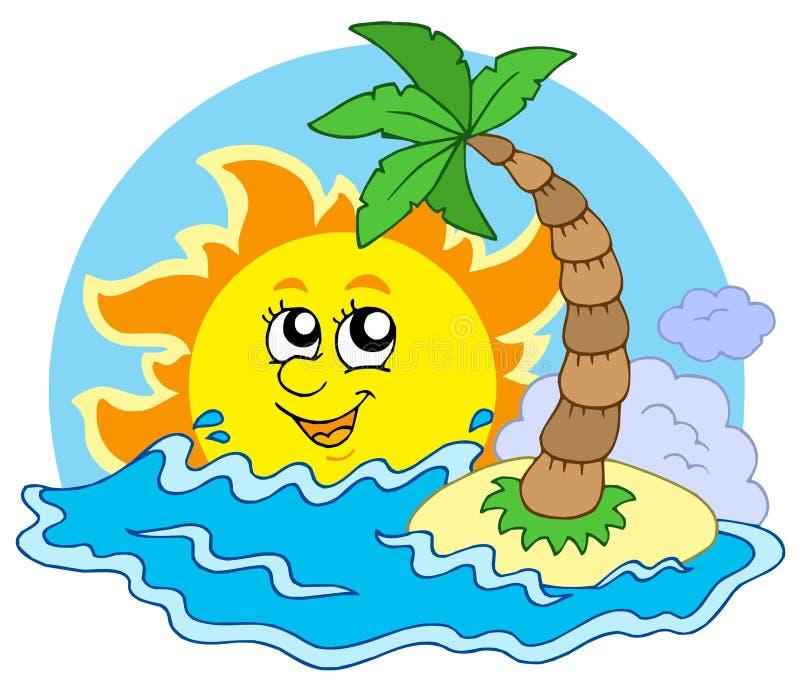 ήλιος παραλιών απεικόνιση αποθεμάτων