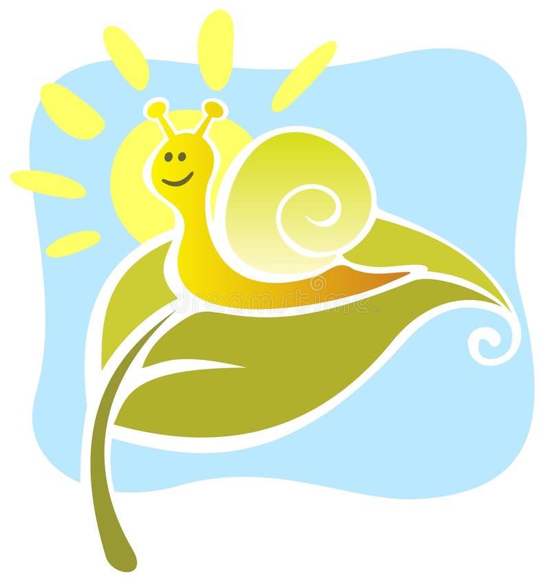 ήλιος σαλιγκαριών απεικόνιση αποθεμάτων