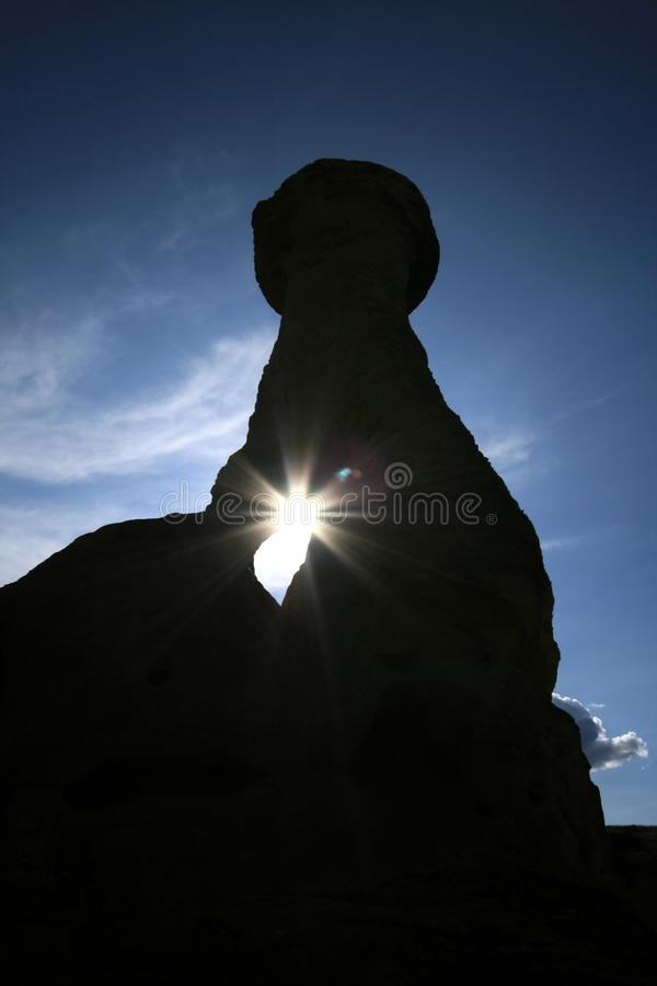 ήλιος σκιών hoodoo στοκ εικόνα με δικαίωμα ελεύθερης χρήσης