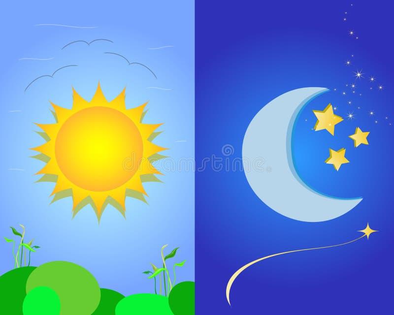 ήλιος φεγγαριών ελεύθερη απεικόνιση δικαιώματος