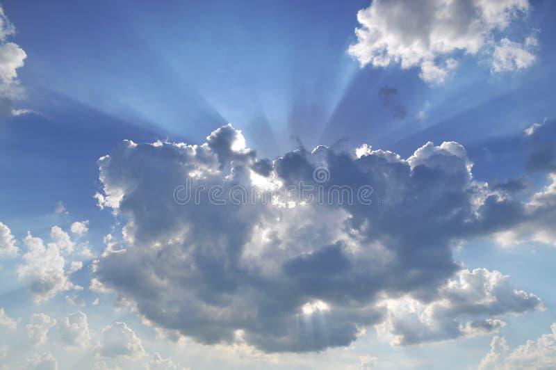 ήλιος φυσήματος στοκ φωτογραφίες