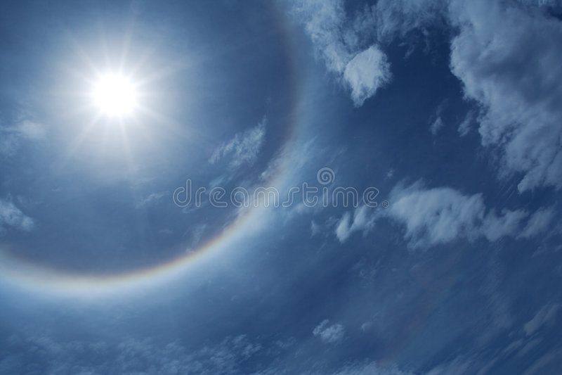 ήλιος φωτοστεφάνου στοκ εικόνες