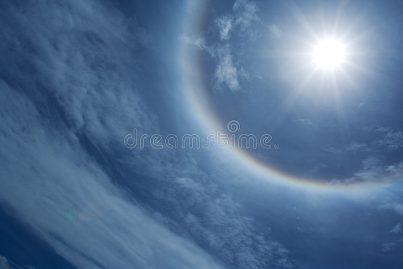 ήλιος φωτοστεφάνου στοκ εικόνα