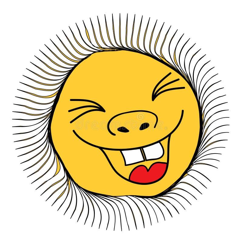 ήλιος χαμόγελου απεικό&nu απεικόνιση αποθεμάτων