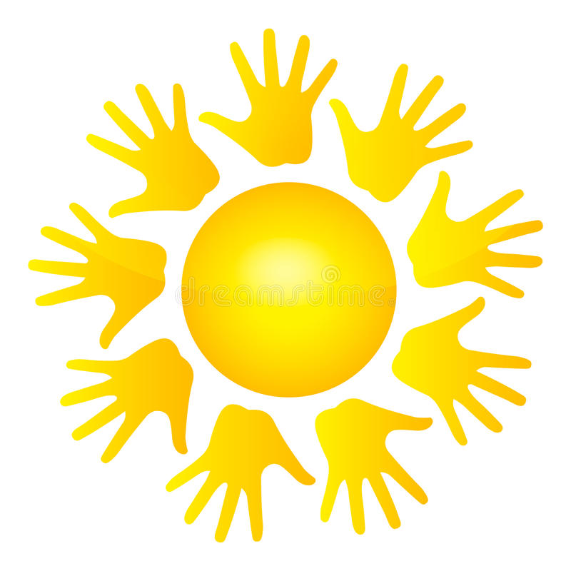 ήλιος χεριών απεικόνιση αποθεμάτων