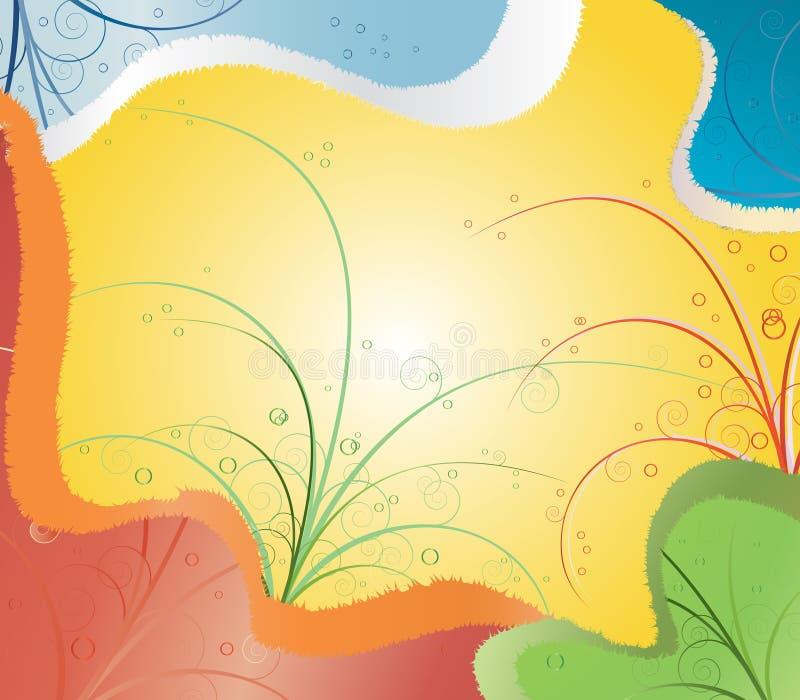 ήλιος χρώματος ανασκόπησ&et διανυσματική απεικόνιση
