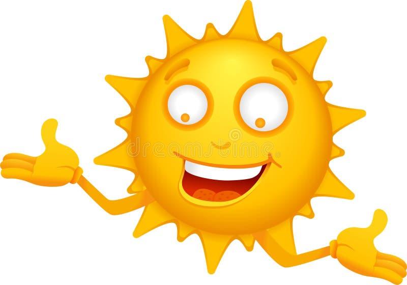 ήλιος 3 χαρακτηρών κινουμέ&nu διανυσματική απεικόνιση