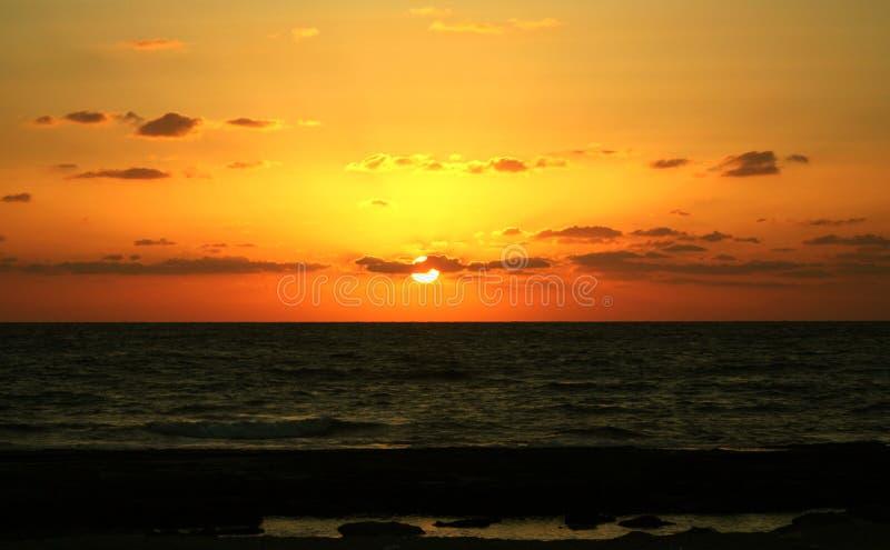 Ήλιος givat Όλγα ηλιοβασιλεμάτων στοκ φωτογραφία με δικαίωμα ελεύθερης χρήσης