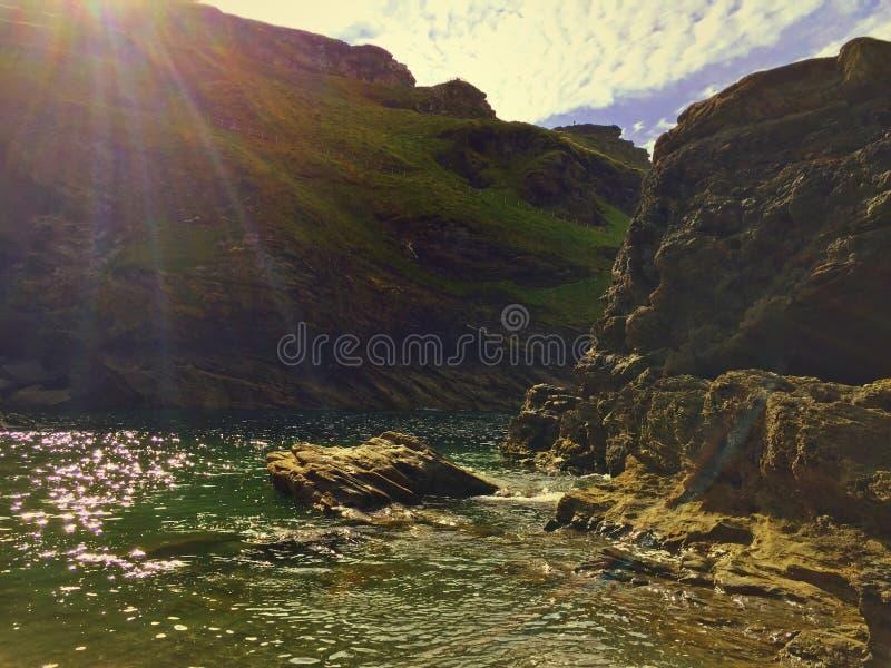 Ήλιος Tintagel στοκ φωτογραφία με δικαίωμα ελεύθερης χρήσης