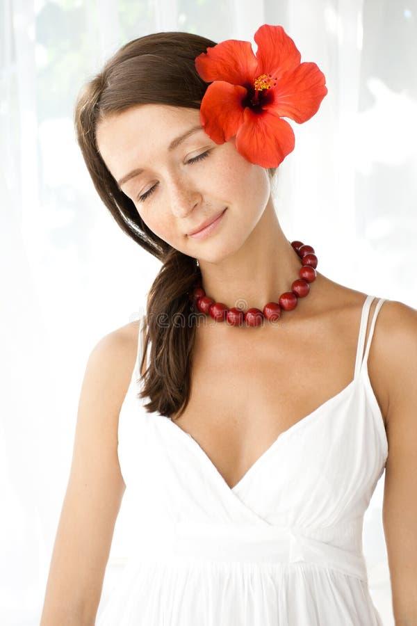 ήρεμες νεολαίες brunette στοκ εικόνες με δικαίωμα ελεύθερης χρήσης