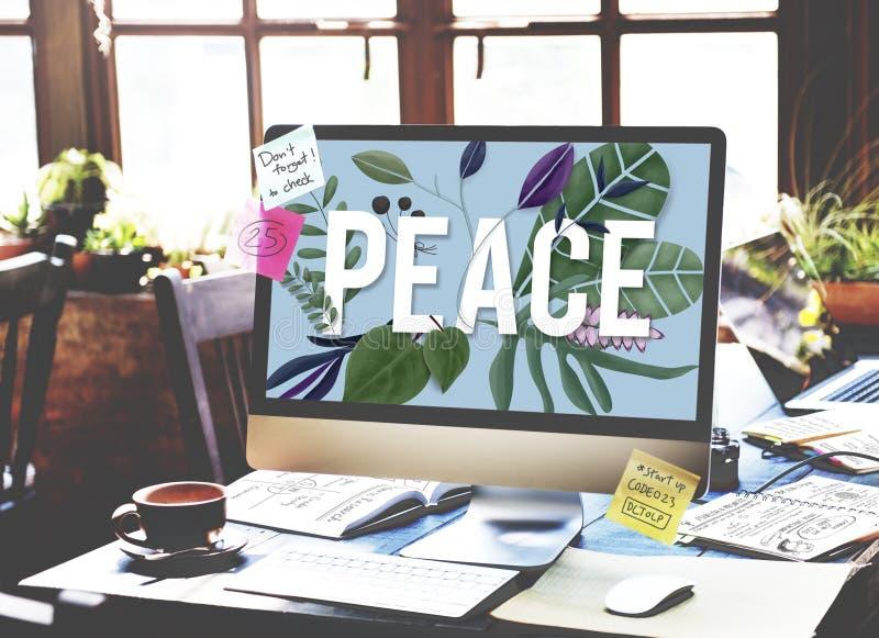 Ήρεμη ελεύθερη έννοια της Zen μοναξιάς ιδιωτικότητας πολιτικής της μη βίας ειρήνης στοκ φωτογραφία