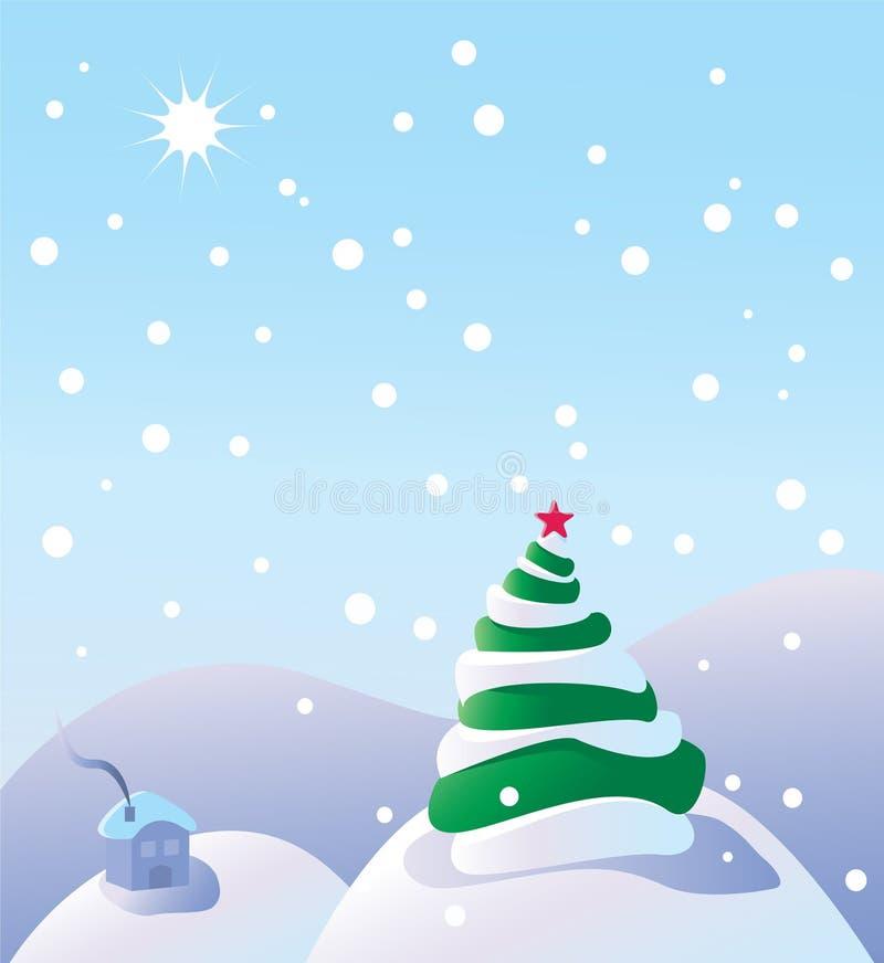 ήρεμος χειμώνας σκηνής απεικόνιση αποθεμάτων