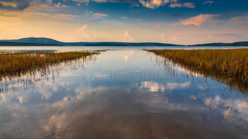 Ήρεμο κανάλι λιμνών με τις αντανακλάσεις στοκ φωτογραφία