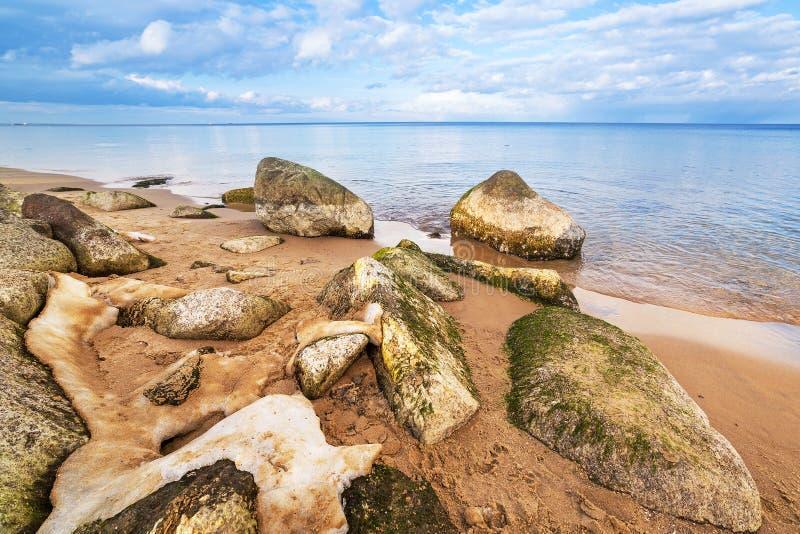 Ήρεμο τοπίο της θάλασσας της Βαλτικής στο χειμώνα στοκ εικόνες με δικαίωμα ελεύθερης χρήσης