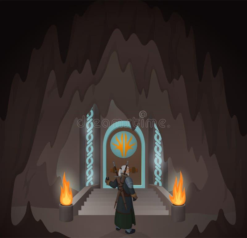 Ήρωας στην απόκρυφη σπηλιά απεικόνιση αποθεμάτων