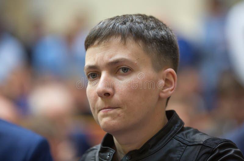 Ήρωας της Ουκρανίας, αναπληρωτής λαών της Ουκρανίας Nadiya Savchenko στοκ φωτογραφία με δικαίωμα ελεύθερης χρήσης