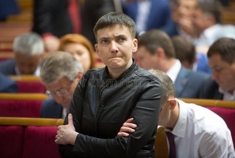 Ήρωας της Ουκρανίας, αναπληρωτής λαών της Ουκρανίας Nadiya Savchenko στοκ φωτογραφία